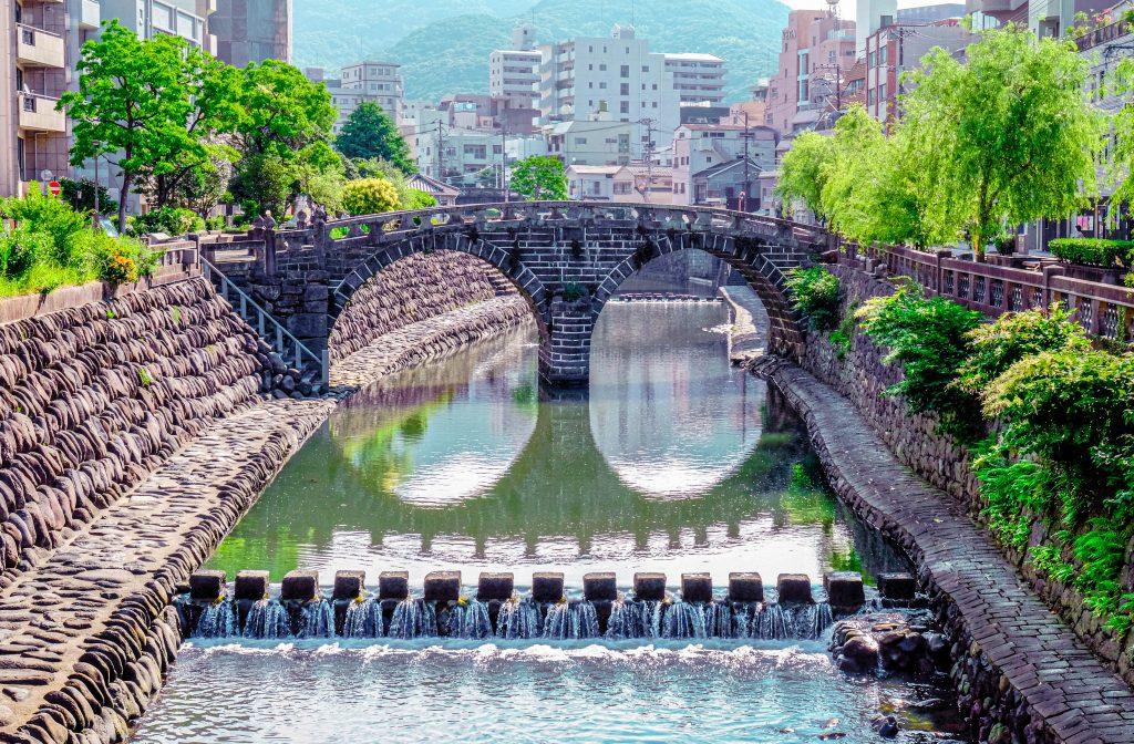 Megane Bashi (Spectacle Bridge) in Nagasaki