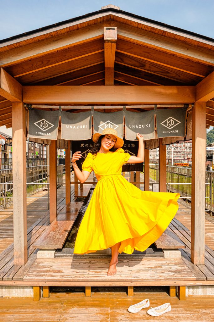 A flowy yellow dress I bought from Imaginebune