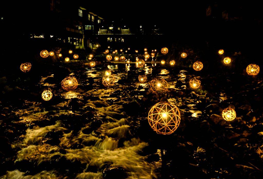 Kurokawa Onsen's Floating Bamboo Lanterns